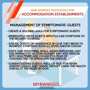 New Normal Hotels Protocol Management of Symptomatic Guests