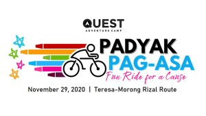 CYCLING EVENT: Padyak Pag-Asa Fun Ride for a Cause @ Quest Adventure Camp