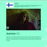 Poster giving synopsis for the European film Aurora an entry in the Cine Europa 24 Film Festival