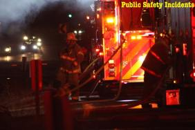 Three different fire agencies responded to the fire. Robert Carter photo