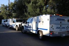Several animal control vehicles were needed to complete the recovery. City of Corona photo