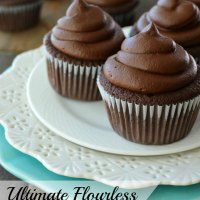 Ultimate Flourless Chocolate Cupcakes