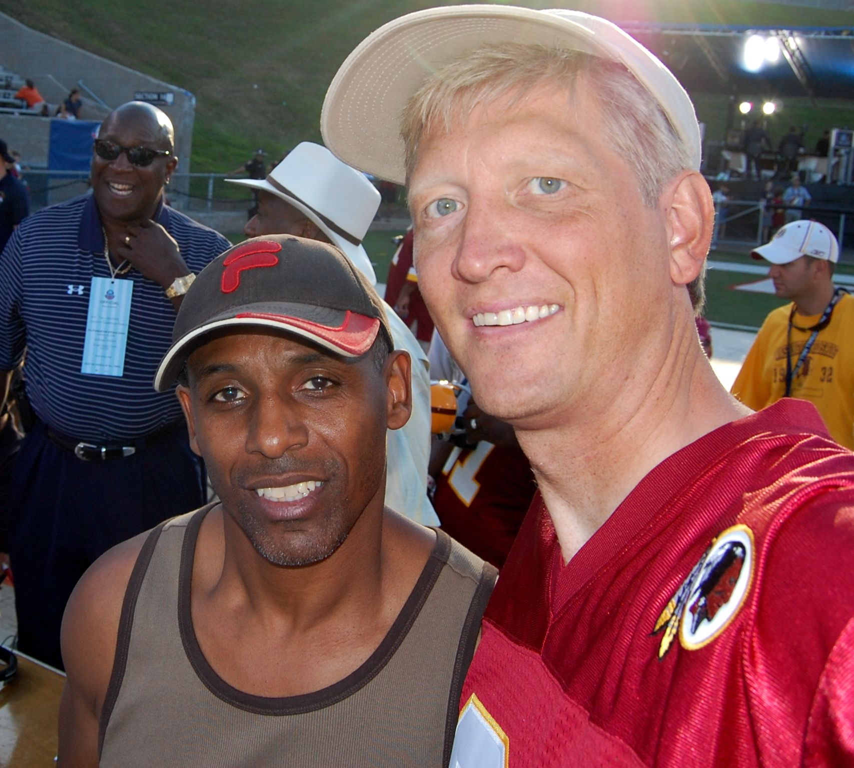With former Redskins receiver Gary Clark
