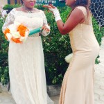 Whoa! I like this, the chief bridesmaid sure knows how to pose