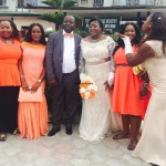 I just love the Chief bridesmaid she sure knows how to add colour to pic