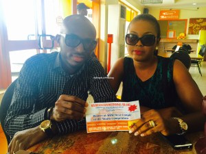 Couple receives their Meal voucher