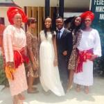 Bride & her family members