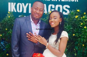 Omowunmi wed Temitope on the 10th of April 2015. May the passion and love they found in each other remain forever.