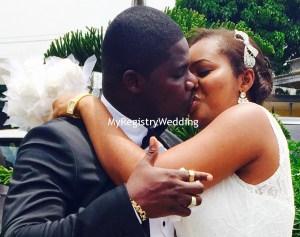 MRW couple kissing