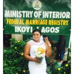 Happy Bride flaunts her ring