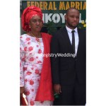 Groom and his mum