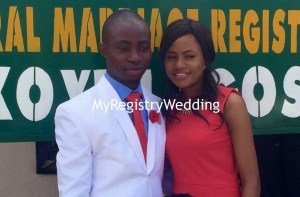 Pretty Nofisatu married  her love Babatunde on the 30th of June 2016. Wishing them a union filled with joy and love.