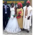 Couple with Bride's parents