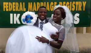 Oluwafunmilayo vowed to love Micheal Adedeji forever on the 14th of July 2016. Wishing them a successful married life.
