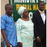 Groom with his mum and a relative