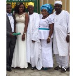 Couple with Bride's parents and relative