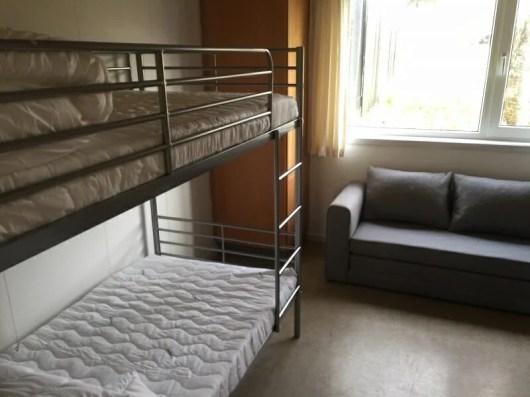 Værelse med 2 køjesenge og sovesofa - op til 6 personer