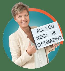 Cathy Tavernier, zaakvoerder Optimazing