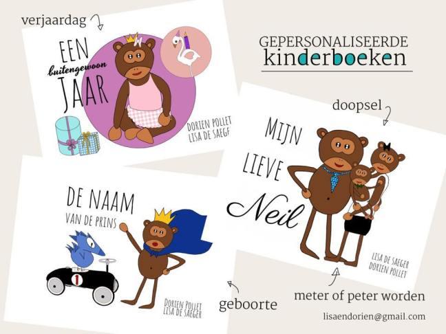 Lisa en Dorien Kinderboeken - een gepersonaliseerd cadeau!