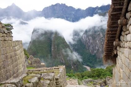 clouds on the Machu Picchu in Cuzco Peru UNESCO world heritage site
