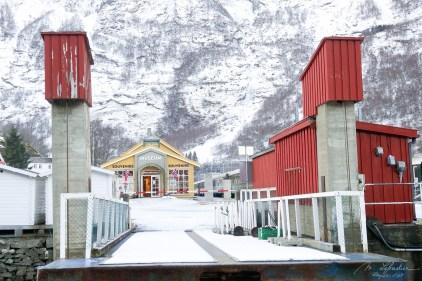 arriving in Flam, Norway