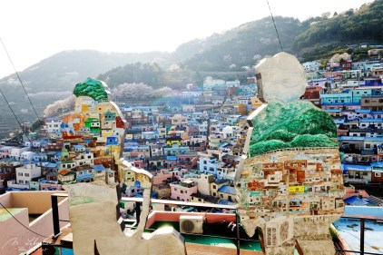 Gamcheon cultural village view Busan South Korea