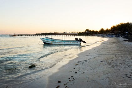 an evening on Mahahual Beach Mexico