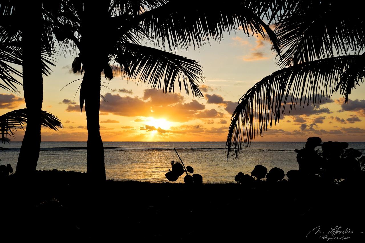 Sunrise in Mahahual Beach Mexico