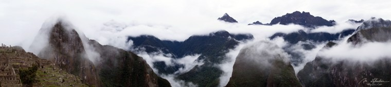 see of clouds over the Machu Picchu in Peru