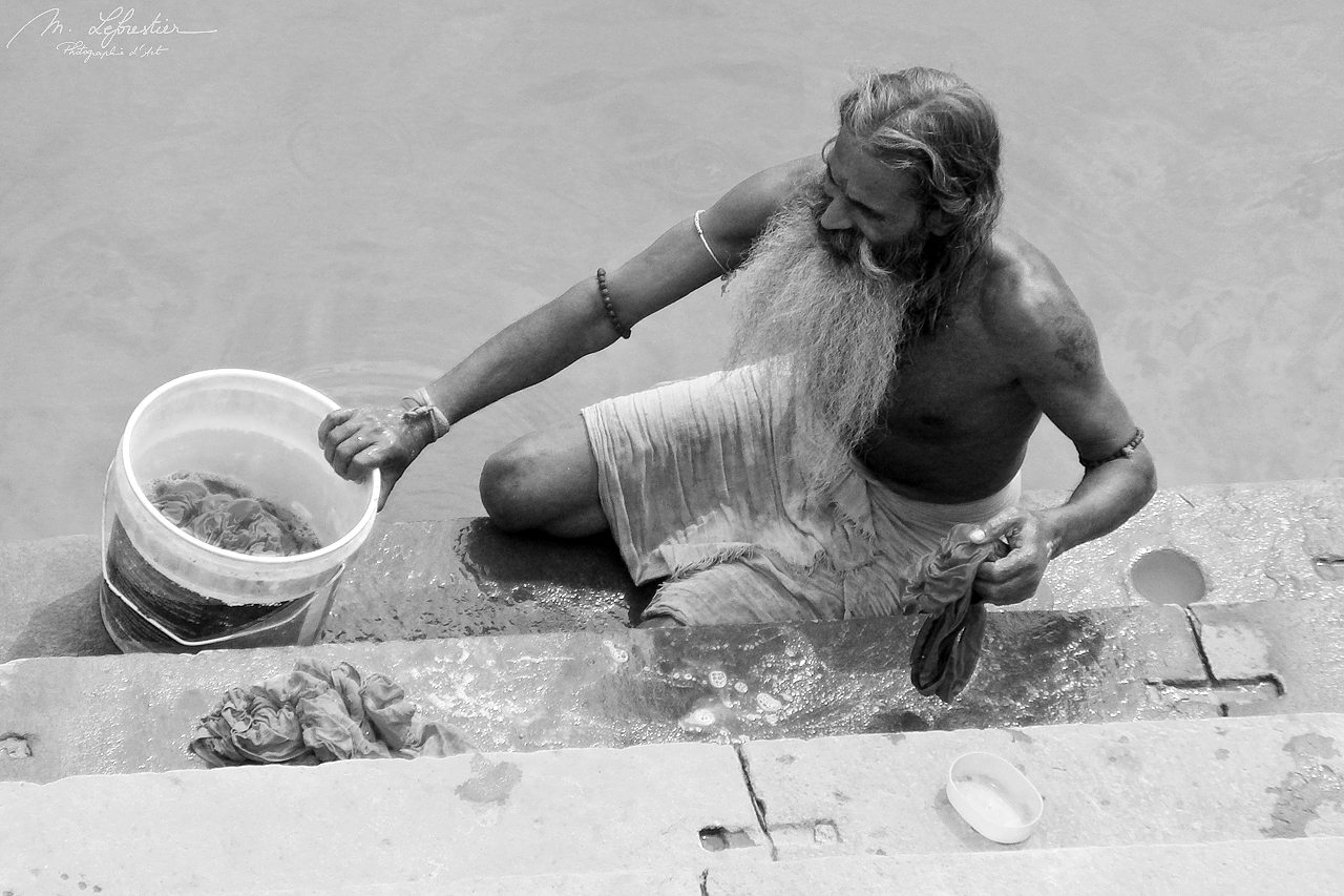 activity by the Ganges in Varanasi India