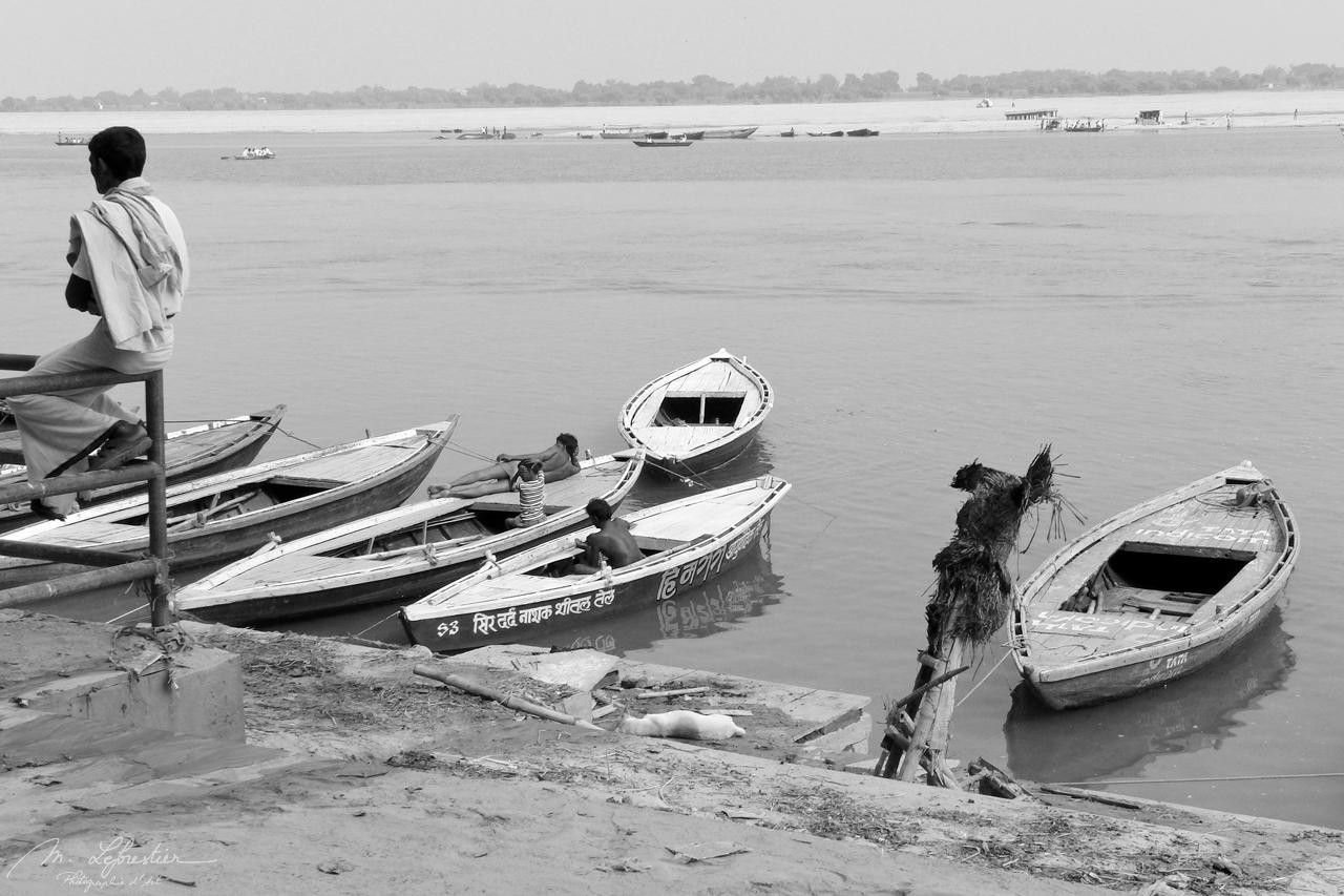 the Ganges in Varanasi India