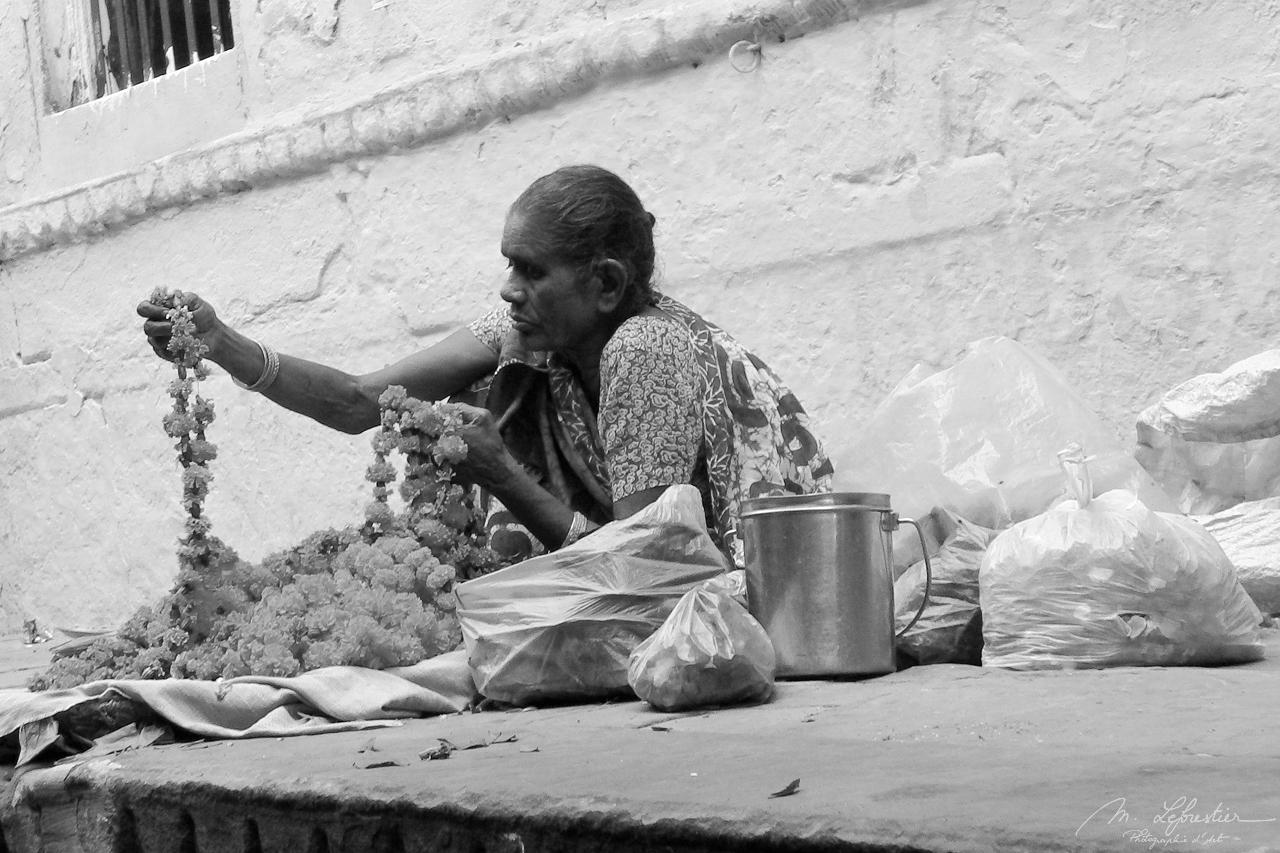 man in Varanasi Banaras India