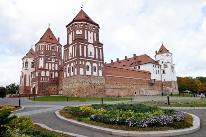 view on the Castle from the side in Belarus