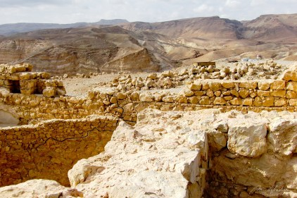 view of the archeological site of Masada, only UNESCO world heritage site in Israel
