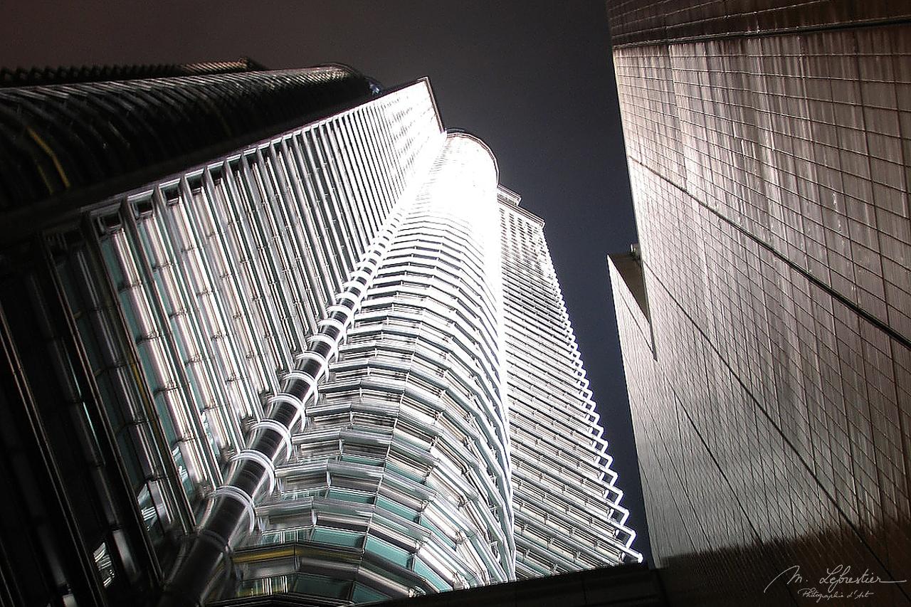 Petronas Towers by night Kuala Lumpur Malaysia