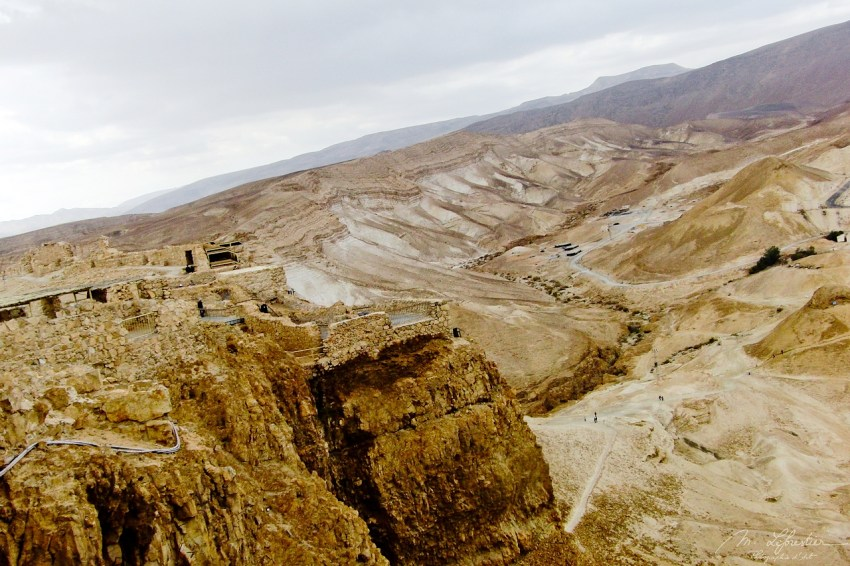 ruins of Masada untouched for 13 centuries after mass suice of 73 BCE in Israel