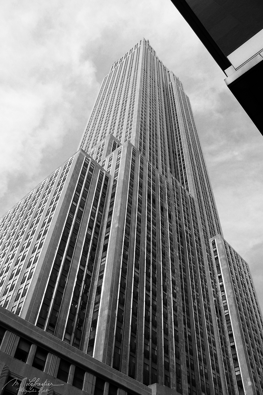 skyscrapers in new york city NYC USA in black and white