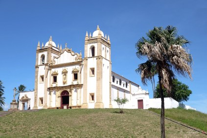 side view of the Carmo church in Olinda Pernambuco Brazil