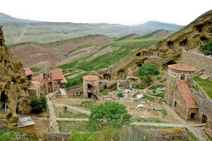 David Gareja is an orthodox monastery complex founded in the 6th century, with a stone mineral landscape, located in the Kakheti region in Georgia, close to Azerbaijan.