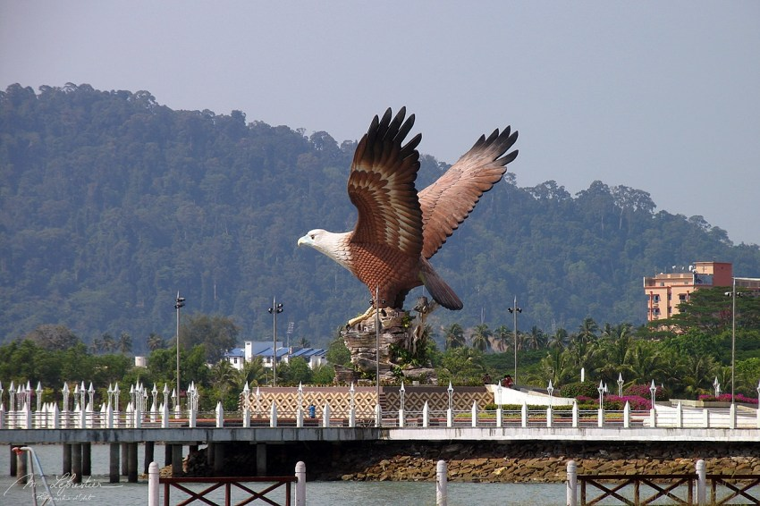Dataran Helang (Eagle Square) in Kuah Langkawi island Malaysia the eagle is the symbol of the island