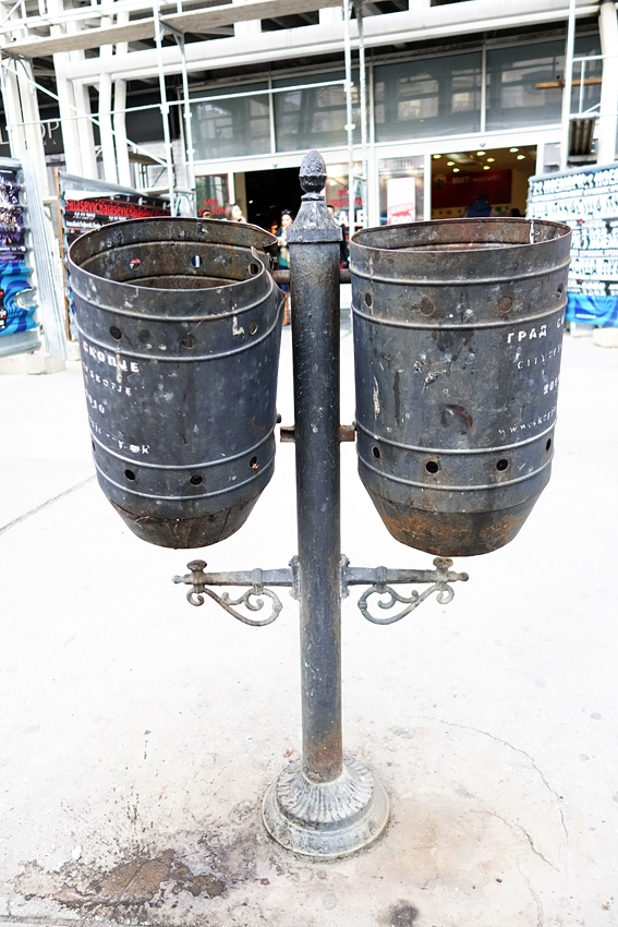 litter bins in the city center of the capital of Macedonia, Skopje