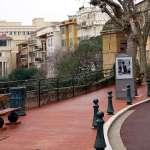 a street litter bin in Monaco city, Principaute de Monaco