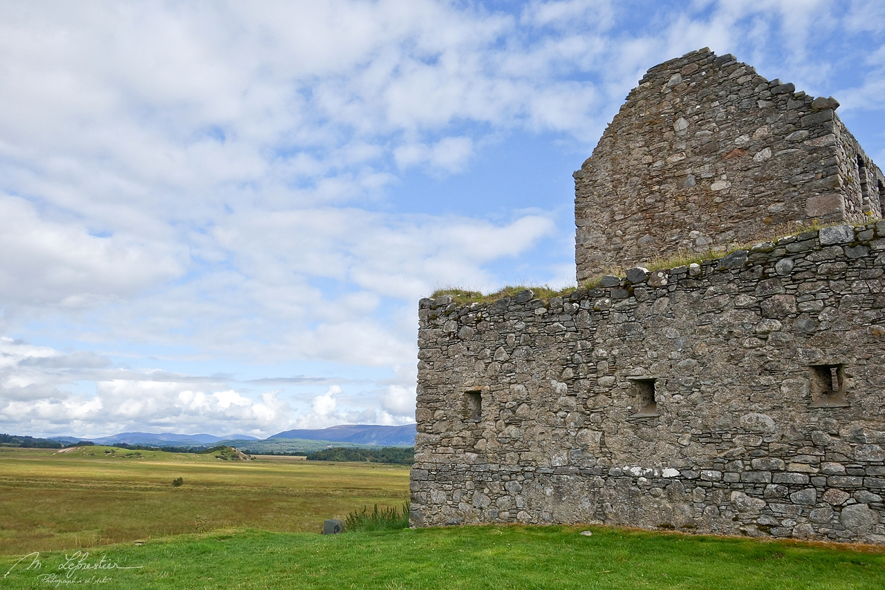 view on the side of the Ruthven Barracks in Ruthven Badenoch in Scotland