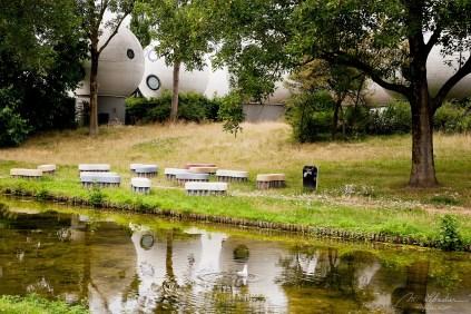 spherical houses called Bolwoningen in 's-Hertogenbosch Netherlands