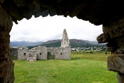 view from the ruthven barracks in Badenoch Scotland