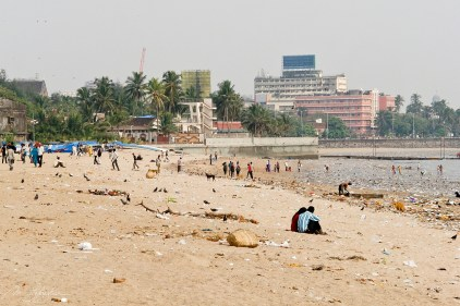 Versova beach in Mumbai India before the largest beach clean up in history