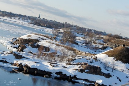 view from the Suomenlinna fortress on Helsinki Finland