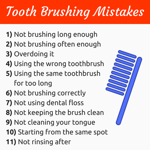 Tooth Brushing Mistakes : How To Brush Teeth The Right Way
