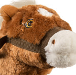 Brown Stick Pony sings and talks with a moving mouth
