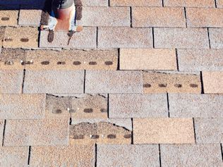 Denver Roof Leak Repair - Shingles missing and granules